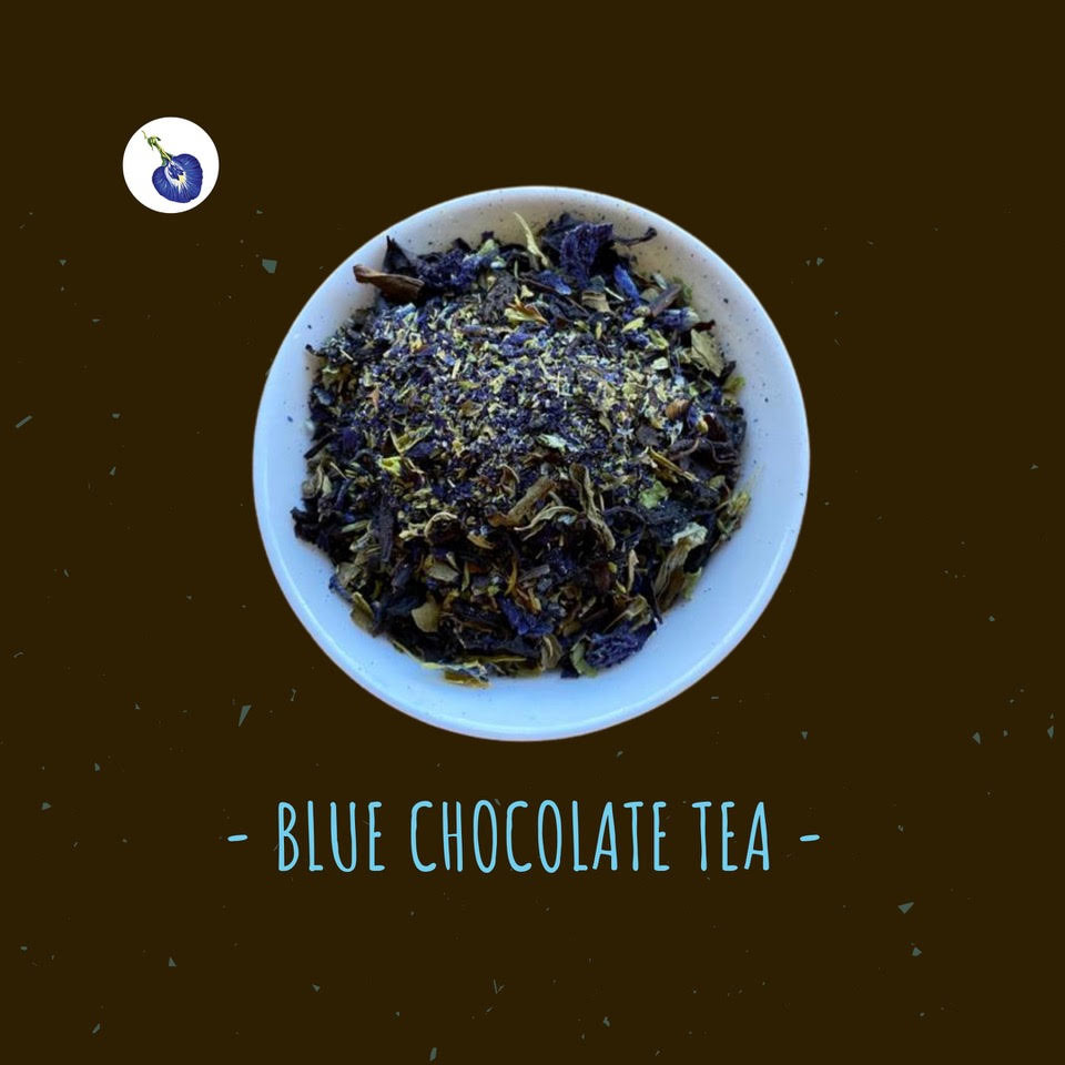 The greatest after-dinner tea is My Blue Tea's Blue Chocolate Tea