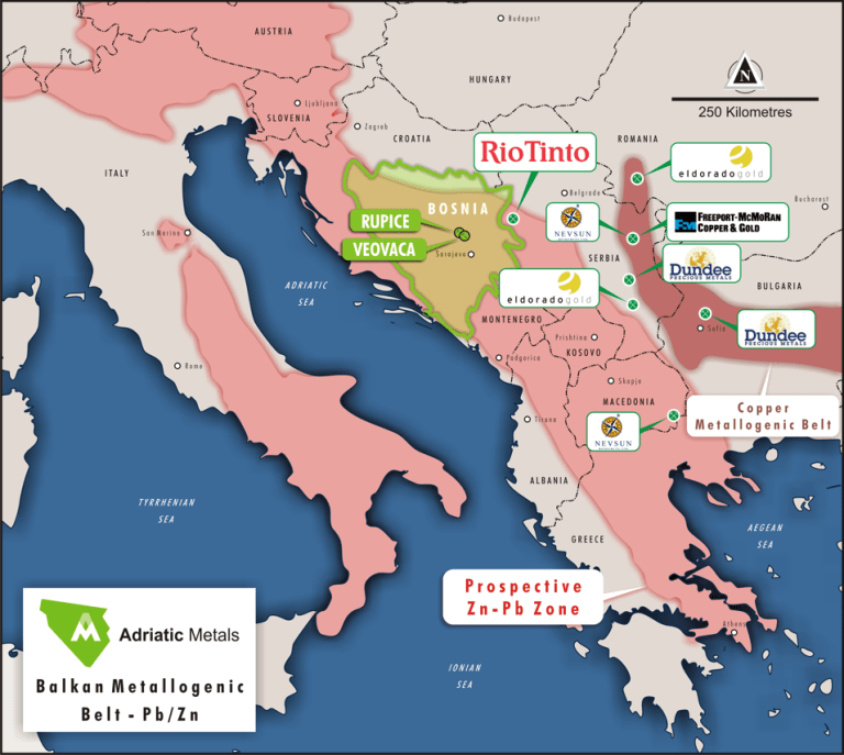 Adriatic Metals PLC project location. (source:Adriatic Metals PLC)