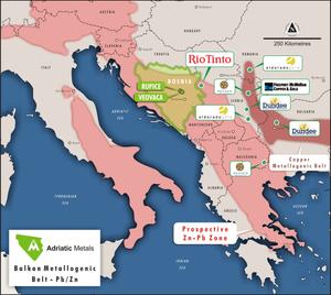 Adriatic Metals PLC project location. (source:Adriatic Metals PLC)