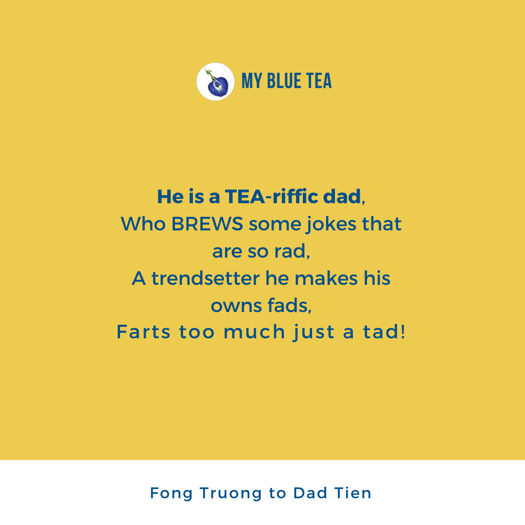 My Blue Tea Father's Day Contest Winner - Fong Truong