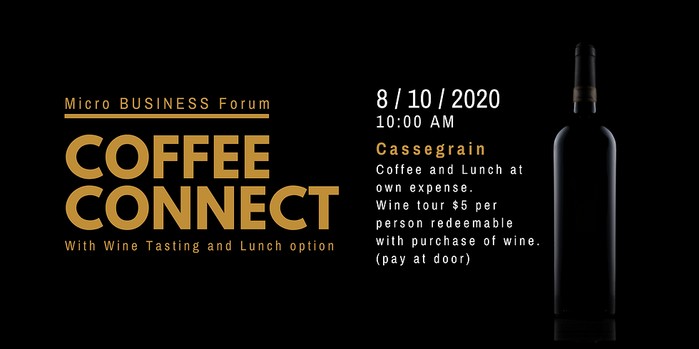 Coffee Connect with Lunch and Wine Tasting Option