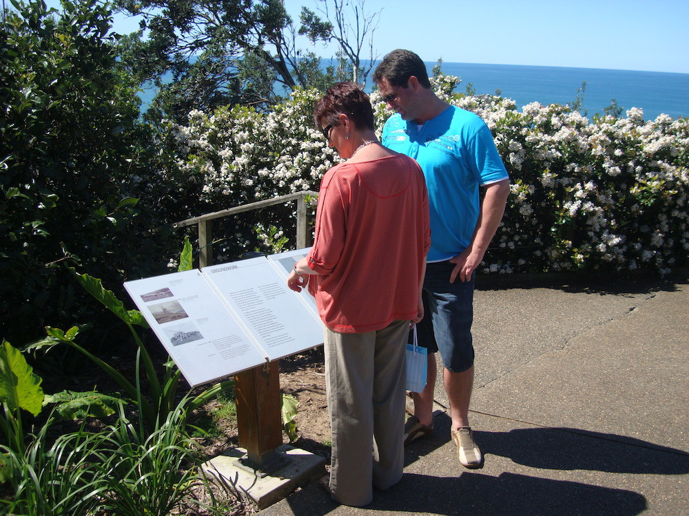Remembering our convict heritage interpretative sign.
