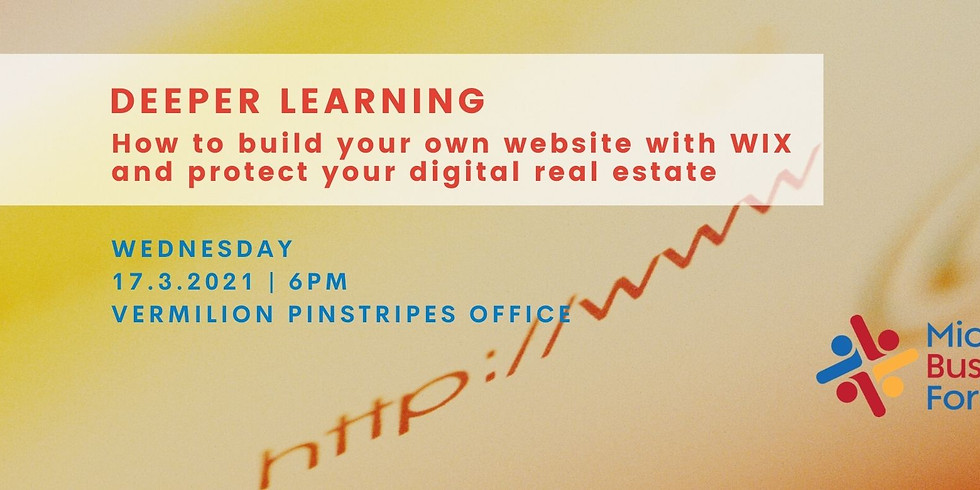 Wednesday 17 March 2021 MBF Deeper Learning - Learn to Build your own Website on WIX