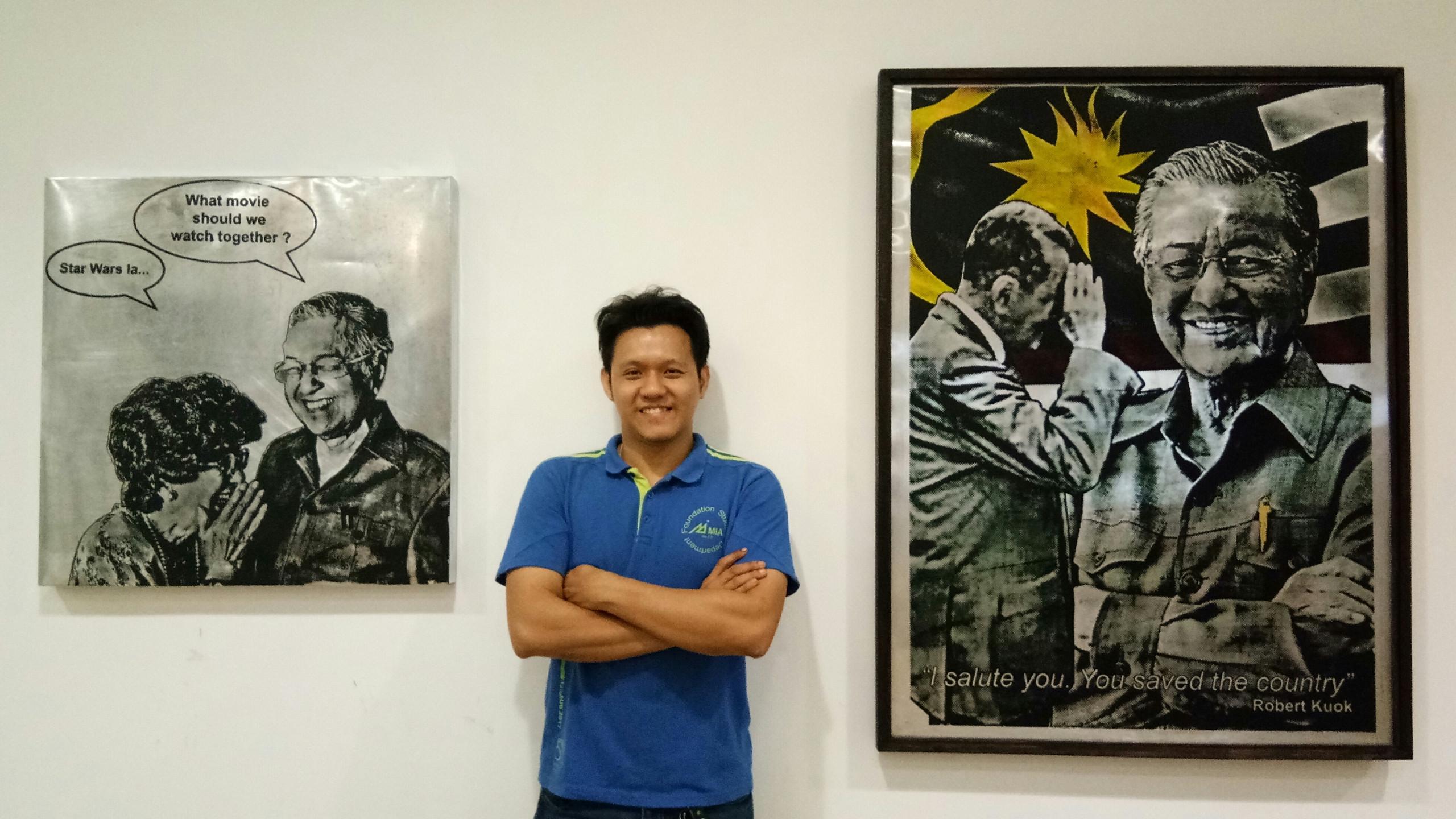 A photo of Mr.Liu and his Maha