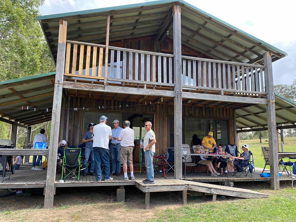 HDFC aviators, family and friends enjoying an afternoon BBQ at Rod Hall's country retreat at Kindee
