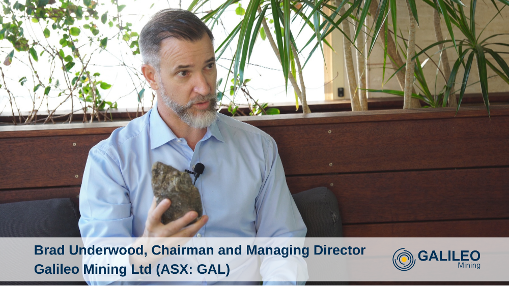 Brad Underwood, Chairman and Managing Director Galileo Mining Ltd (ASX: GAL)
