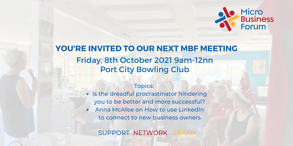 MBF Meeting 8th October 2021