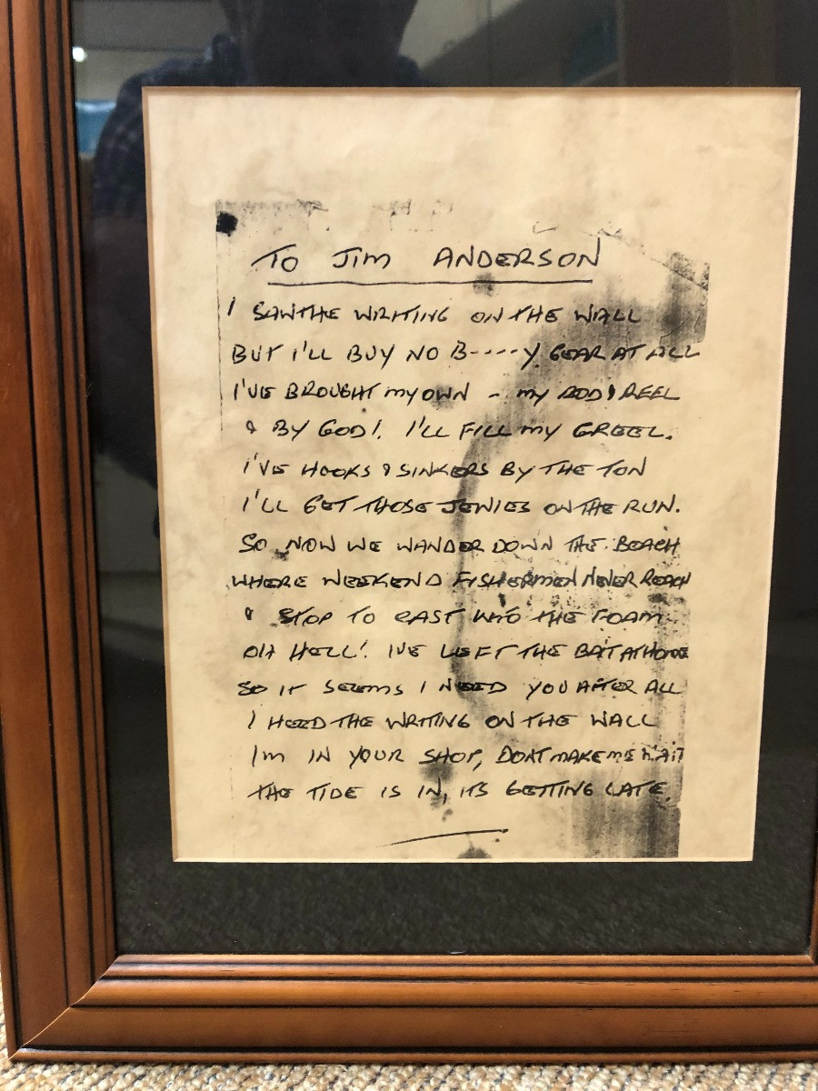 The anonymous letter delivered to Jim Andersons Shop North Haven