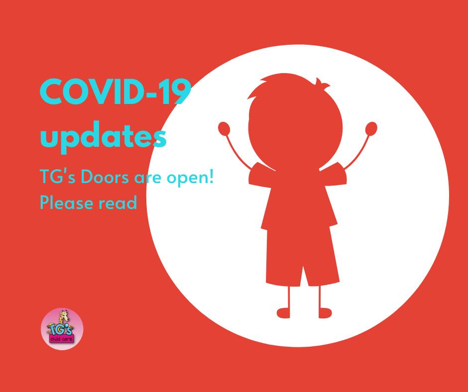 TG's Child Care will provide periodic updates on COVID-19 coronavirus situation