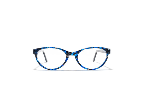 Trinity Female spectacle frame in blue black at Optex Australia Eyewear (front view)