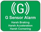 G sensor alarm Harsh Braking Harsh Acceleration
