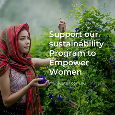 My Blue Tea empowers women with our sustainability program