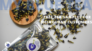 My Blue Tea is giving away free tea samples to orders shipped to Melbourne