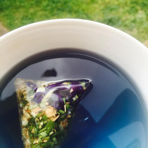 How to brew your happy blue tea