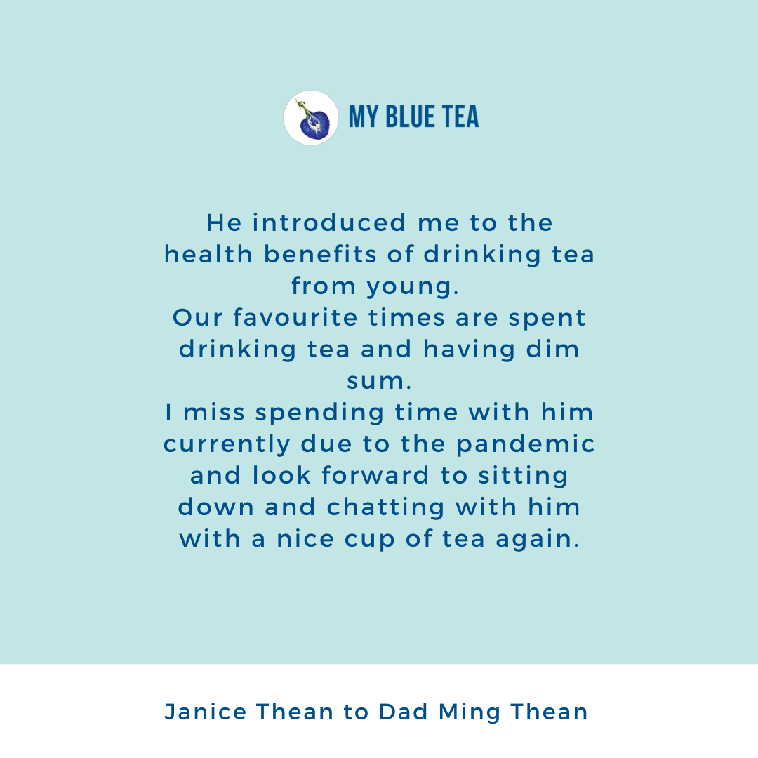 My Blue Tea Father's Day Contest Winner - Janice Thean
