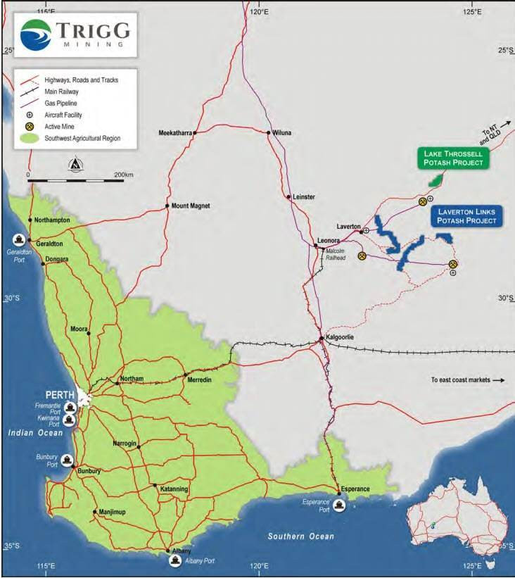 Figure 1: Trigg Mining Limited project locations. (source: Trigg Mining Limited) Samso Insights
