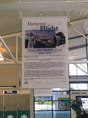 Moments in Flight - Nancy Bird Walton banner.