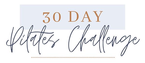 30-Day Pilates Challenge Full Calendar M