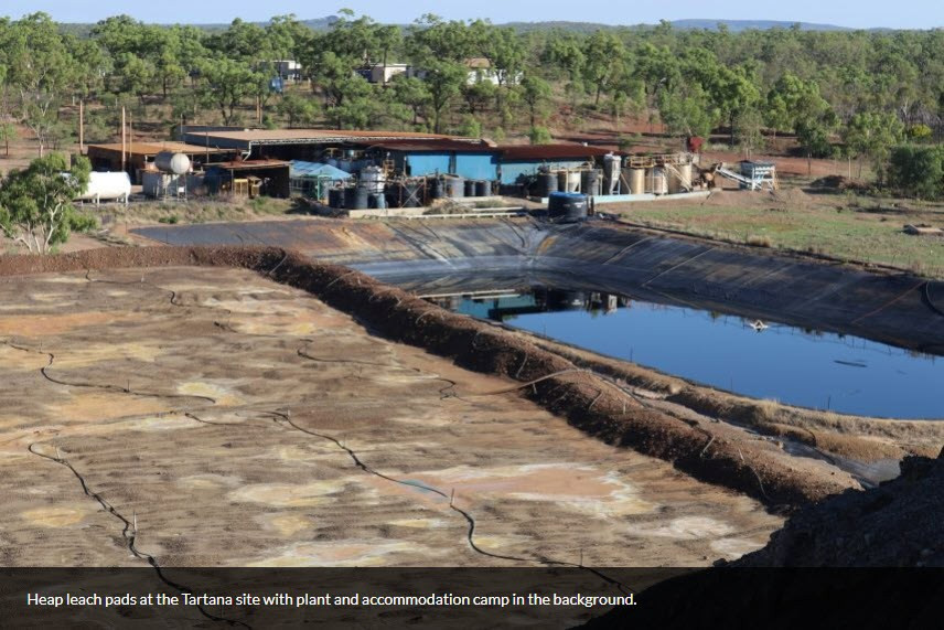 Photo of Tartana Heap leach pad. Samso Insights