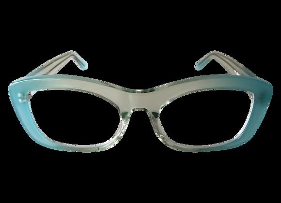 Australian Made Optical Frame SJ2 in Blue/Crystal at Optex Australia