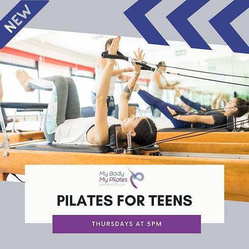 Pilates for Teens Reformer My Body My Pi