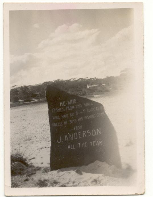 A Photo of Andersons Rock in Camden Haven Re-Painted in 1953