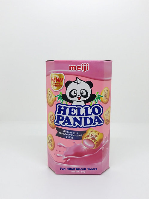 Hello Panda Strawberry Biscuits