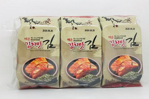 Spicy Kimchi Seasoned Laver