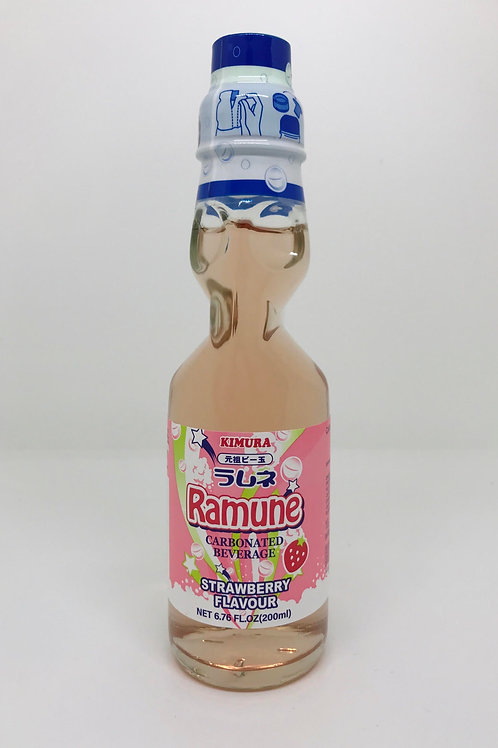 Ramune Carbonated Drink - Strawberry