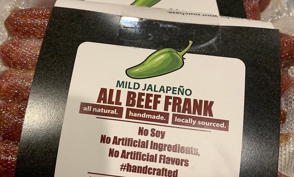 Jalapeño (mild) Cheddar Smoked Beef Frank
