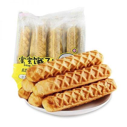 乐锦计宝宝饿了乳酪味软心棒面包(5根)