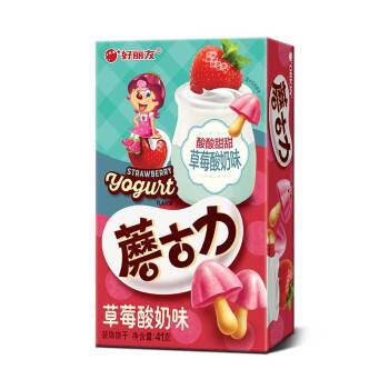 好丽友蘑菇力草莓酸奶味