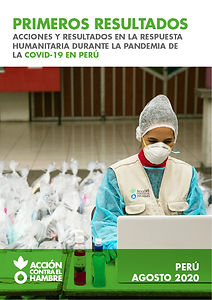 REPORTE-PRIMEROS RESULTADOS ANTES LA COV