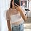 Thumbnail: Crop top organza blanca