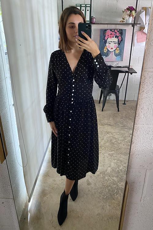 Vestido Polka negro
