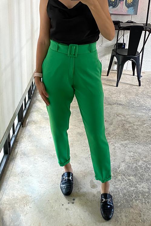 Pantalón cigarette verde
