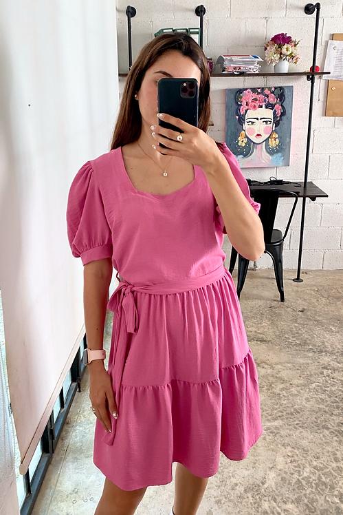 Vestido rosa Magnolia