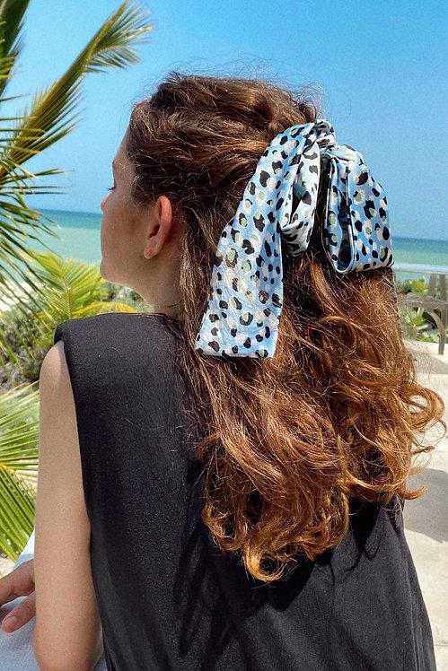 Headband animal print azul