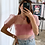 Thumbnail: Crop top organza rosa