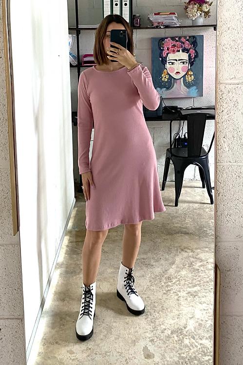 Vestido Rib rosa