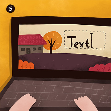 Adding text to children's book illustrations