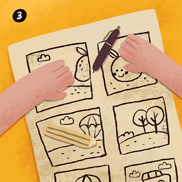 Drawing sketches for a Children's Book