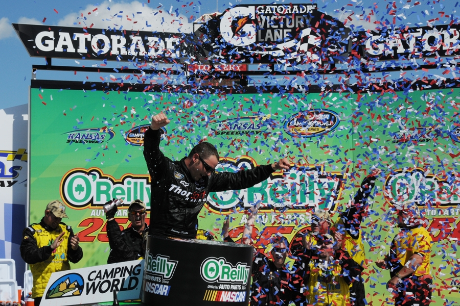 Sauter Wins Kansas City NASCAR Truck