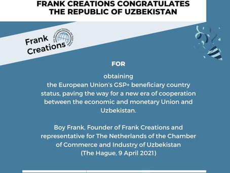 Statement on Uzbekistan's Obtention of the GSP+ Status