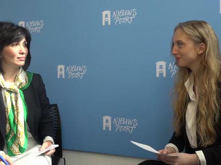 Terka Tomková of Frank Creations interviews a member of Uzbekistan's Central Election Commission