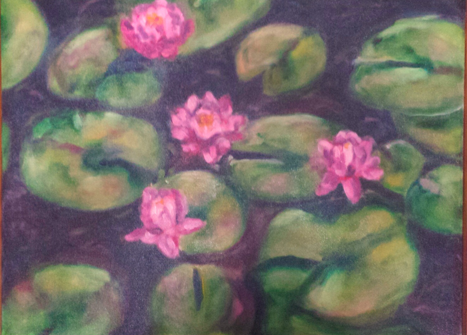 Water Lilies in Oil
