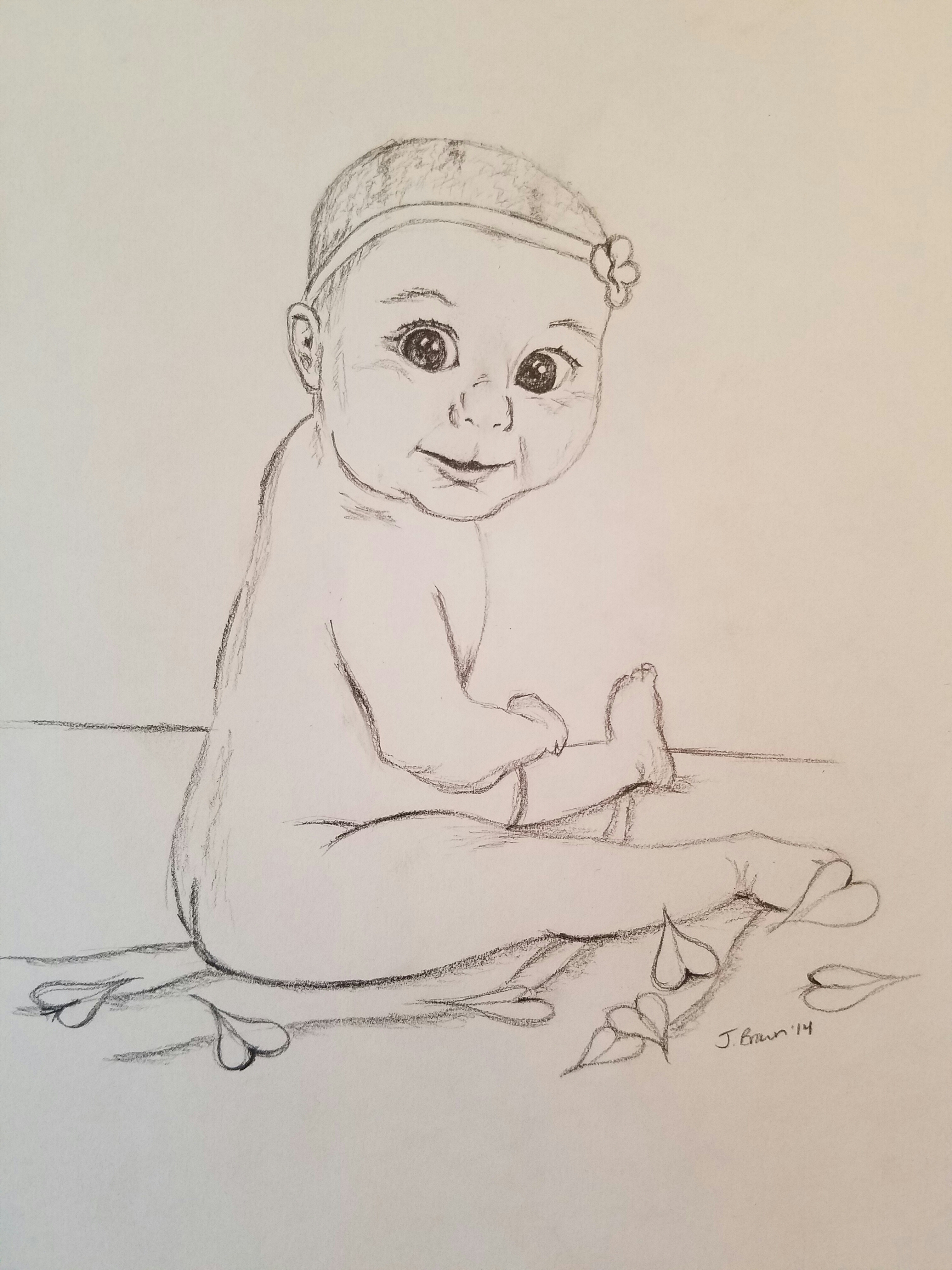 Baby in Graphite