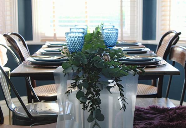 Fresh Blue Tablesetting