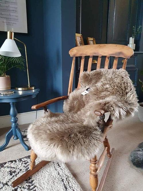 Large Taupe Sheepskin