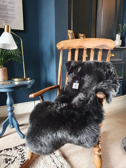 Large Dark Grey Sheepskin